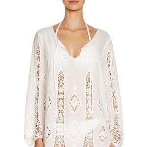 Nanette Lepore 100% cotton lace swim cover dress L